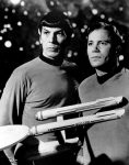 William Shatner and Leonard Nimoy of Star Trek