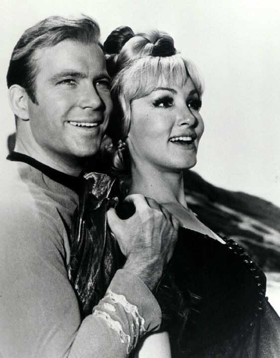 William Shatner and Julie Newmar of Star Trek